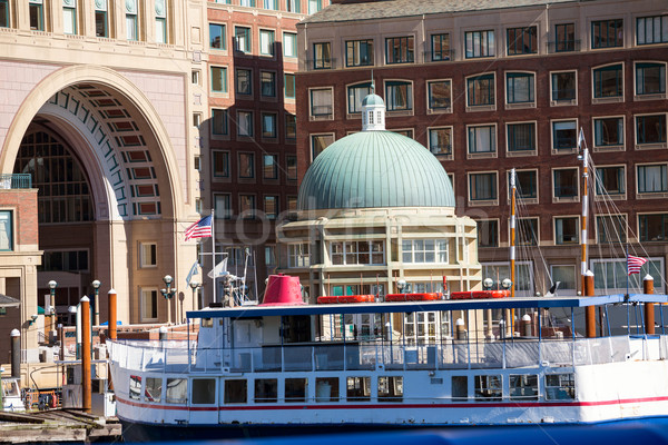 Boston Rowes Wharf in Massachusetts Stock photo © lunamarina