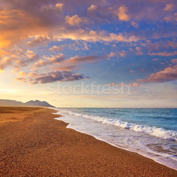 Almeria Cabo de Gata San Miguel beach Spain Stock photo © lunamarina