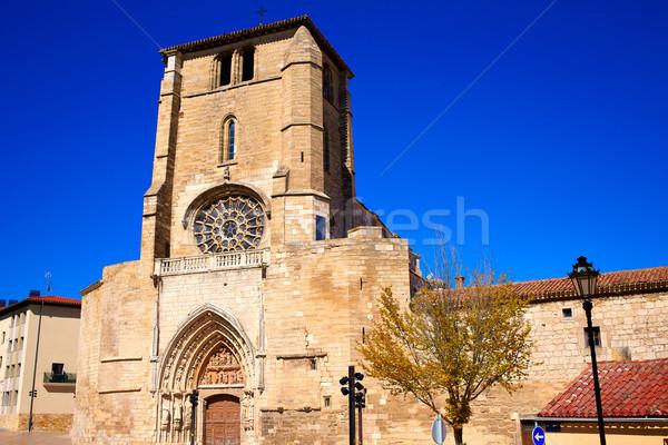 Burgos San Esteban church facade Castilla Spain Stock photo © lunamarina