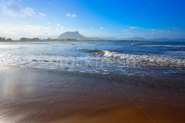 Praia Espanha mediterrânico água pôr do sol mar Foto stock © lunamarina