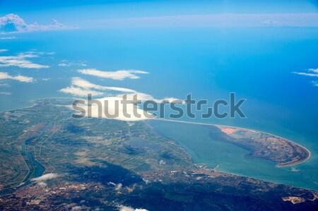 антенна дельта реке Испания облака морем Сток-фото © lunamarina