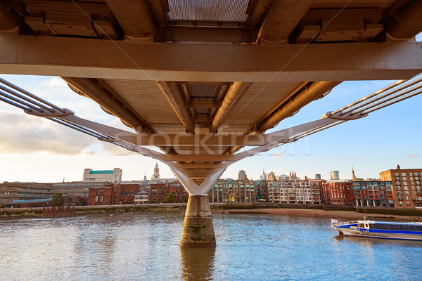 London Millennium bridge skyline UK Stock photo © lunamarina