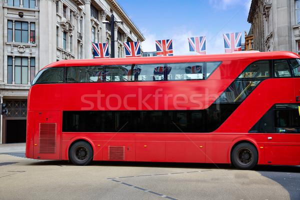 Londres ônibus oxford rua westminster edifício Foto stock © lunamarina