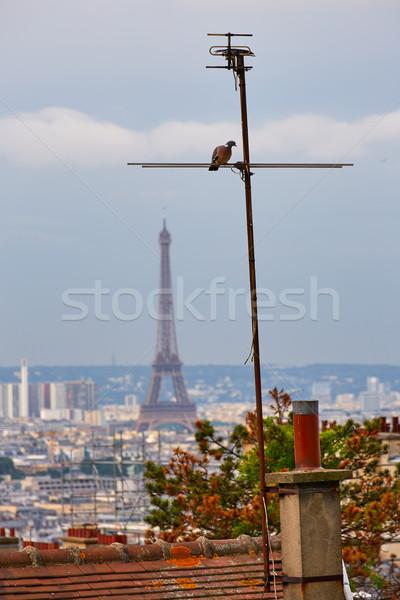 Paris ufuk çizgisi montmartre Fransa Bina Stok fotoğraf © lunamarina