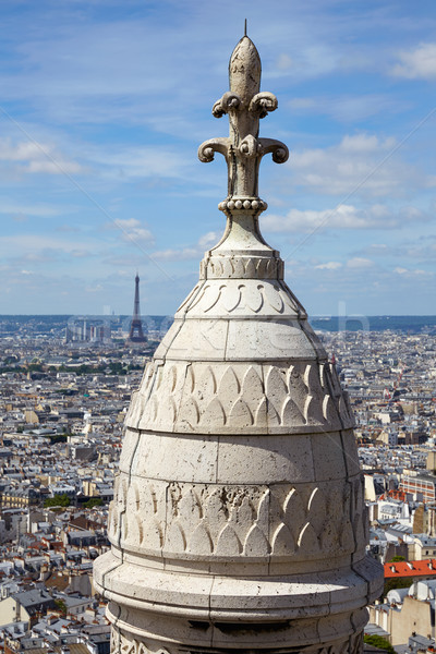 Paris skyline and Sacre Coeur in Montmartre Stock photo © lunamarina