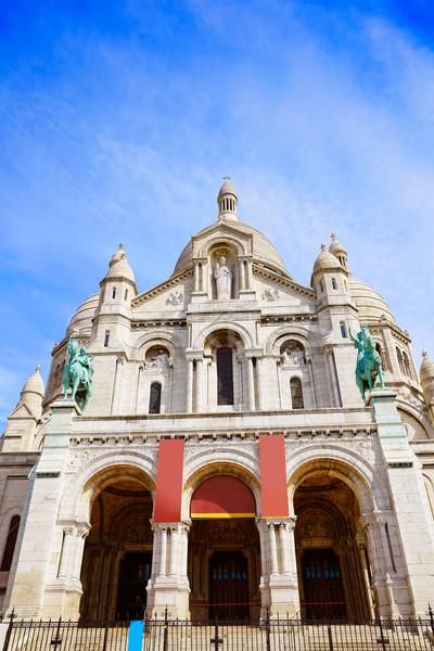 Montmartre Párizs Franciaország város kék városi Stock fotó © lunamarina