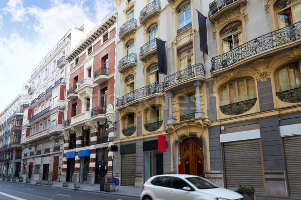 La straat Valencia Spanje zomer gebouwen Stockfoto © lunamarina