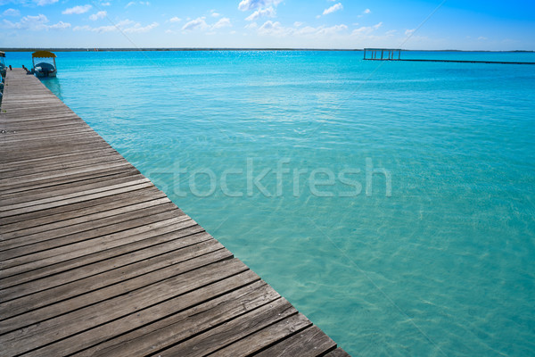 Laguna de Bacalar Lagoon in Mexico Stock photo © lunamarina