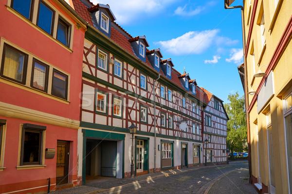 Centro de la ciudad Alemania cielo primavera ciudad montana Foto stock © lunamarina