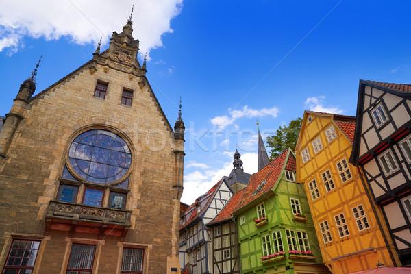 church Quedlinburg facade in Harz Germany Stock photo © lunamarina