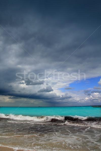 Hurrikán trópusi vihar Karib drámai felhős Stock fotó © lunamarina