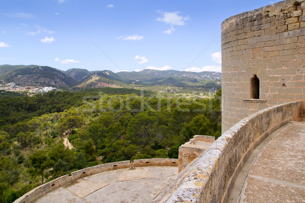 Castillo de Bellver castle in Palma de Mallorca Stock photo © lunamarina