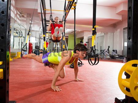 Crossfit fitness Swing exercice entraînement gymnase Photo stock © lunamarina