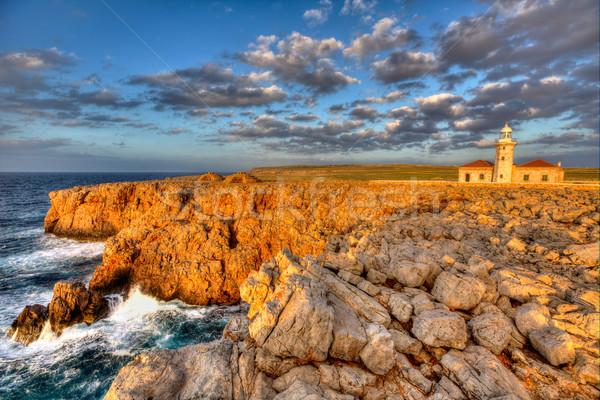 Menorca Punta Nati Faro lighthouse Balearic Islands Stock photo © lunamarina
