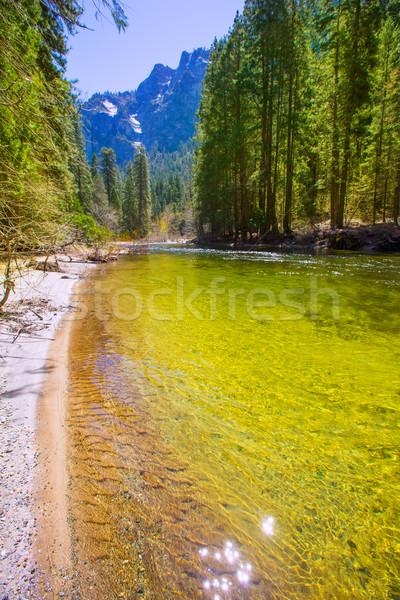 ヨセミテ国立公園 川 カリフォルニア 春 米国 空 ストックフォト © lunamarina