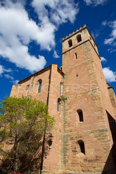 Mora de Rubielos in Teruel Aragon stonewall village Stock photo © lunamarina