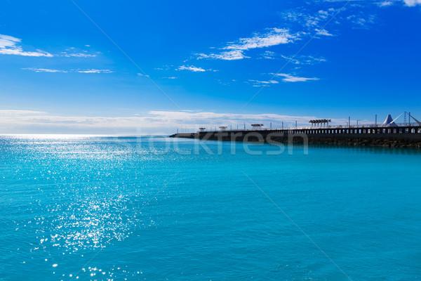 Alicante modern breakwater in Mediterranean Spain Stock photo © lunamarina