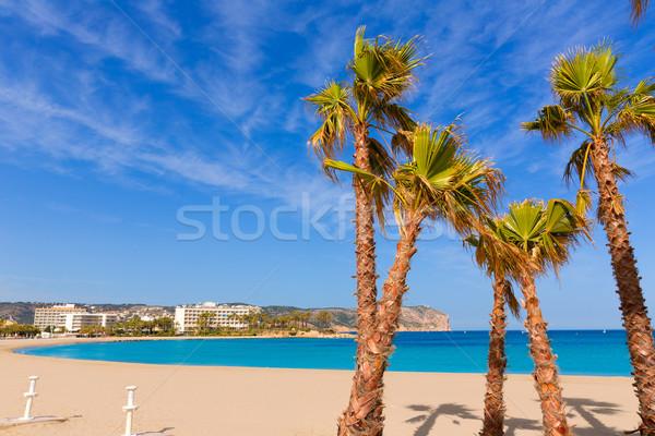 Javea Xabia playa del Arenal in Mediterranean Spain Stock photo © lunamarina
