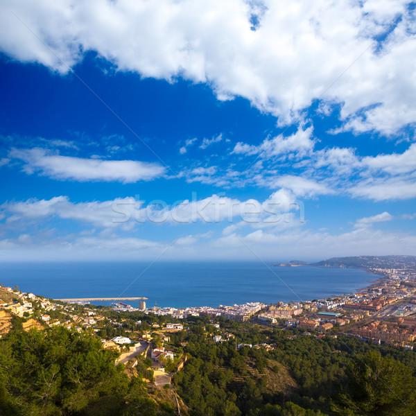 Javea Xabia aerial skyline from Molins Alicante Spain Stock photo © lunamarina