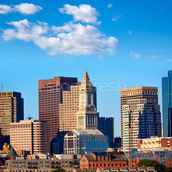 Boston skyline luce del sole Massachusetts USA edifici Foto d'archivio © lunamarina