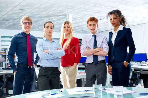 Stock photo: Business executive team youg people at office
