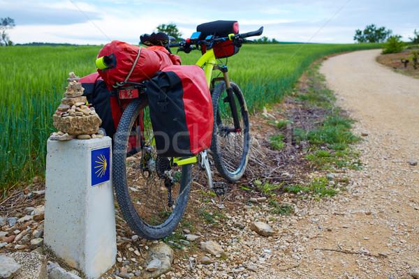 The Way of Saint James biking Stock photo © lunamarina