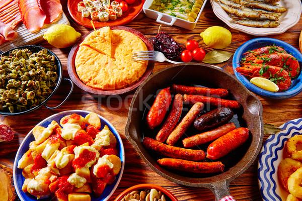 Foto stock: Tapas · Espanha · popular · queijo