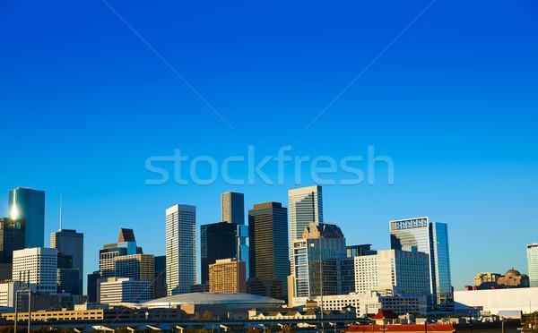 Houston belváros sziluett Texas város USA Stock fotó © lunamarina