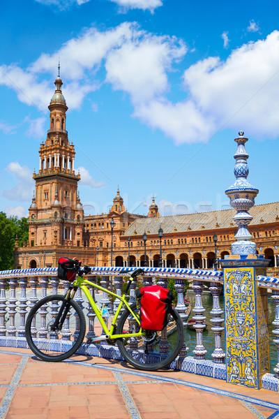 スペイン 自転車 広場 市 旅行 アーキテクチャ ストックフォト © lunamarina