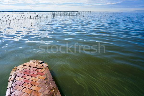 Valencia meer Spanje middellandse zee water hout Stockfoto © lunamarina