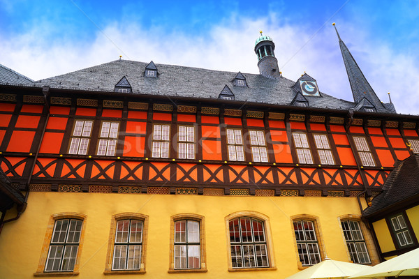 Wernigerode Rathaus Stadt city hall Harz Germany Stock photo © lunamarina