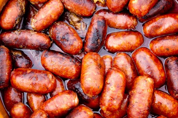chorizo red sausages fried in oil Stock photo © lunamarina