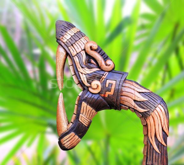 Чичен-Ица змеи символ древесины Мексика Рисунок Сток-фото © lunamarina