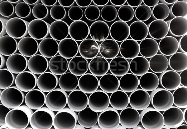 Cinza pvc plástico pipes Foto stock © lunamarina
