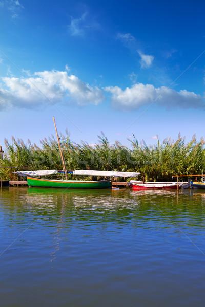 канал лодках Валенсия Испания воды древесины Сток-фото © lunamarina