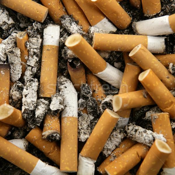 Cigarros textura ocupado cinzeiro praça tiro Foto stock © lunamarina