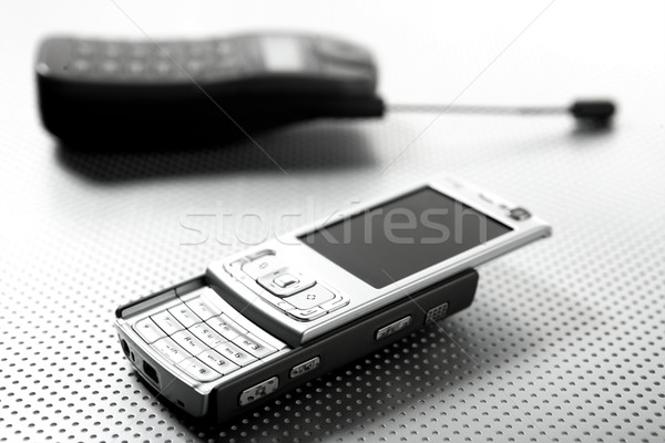 New and old mobile phones Stock photo © lunamarina