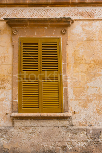 Ciutadella Menorca wooden shutter window Stock photo © lunamarina