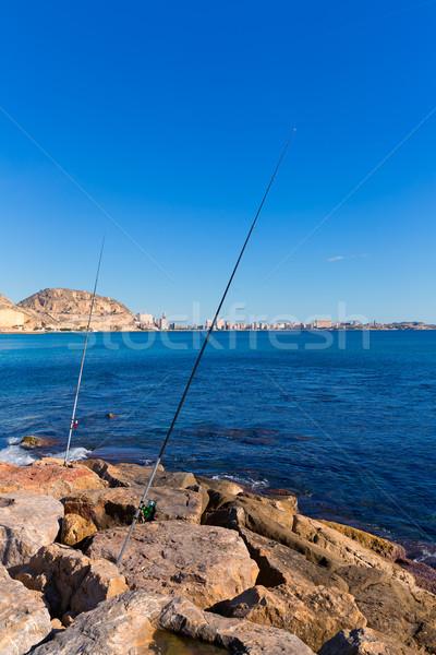 San juan vissen Spanje water zomer oceaan Stockfoto © lunamarina