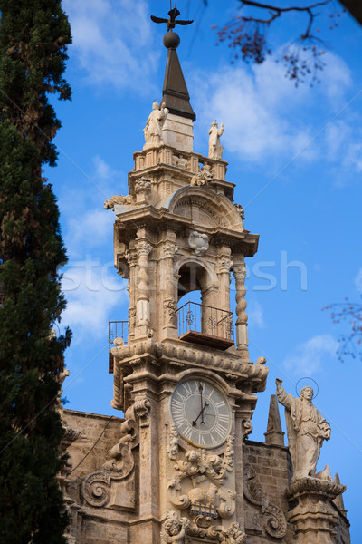 Valencia templom homlokzat Spanyolország művészet nyár Stock fotó © lunamarina