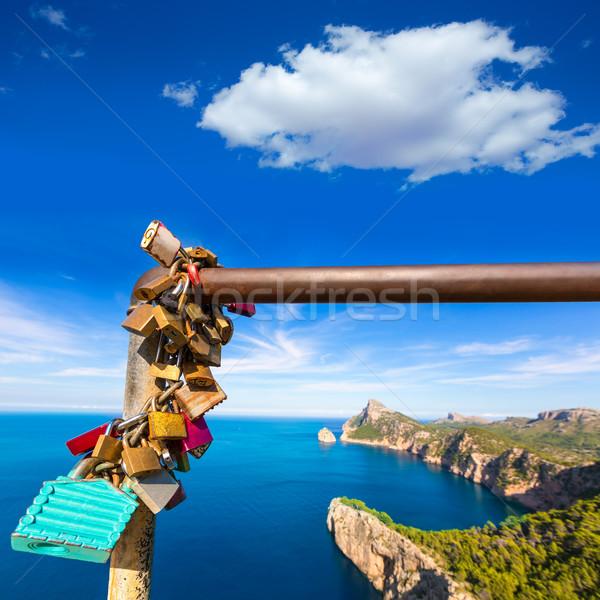 Majorca eiland Spanje landschap berg oceaan Stockfoto © lunamarina