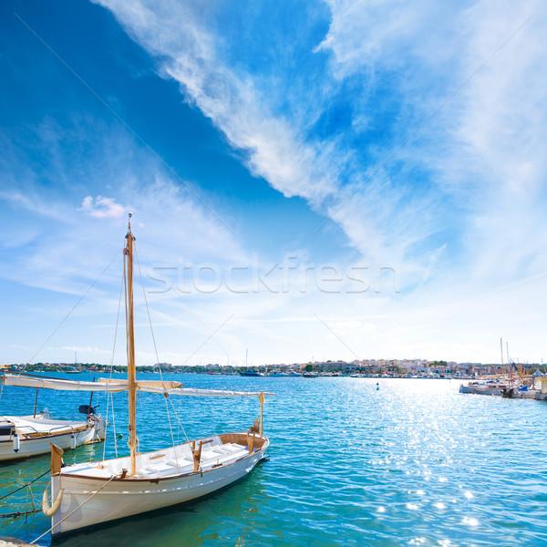 Haven majorca eiland Spanje landschap zomer Stockfoto © lunamarina