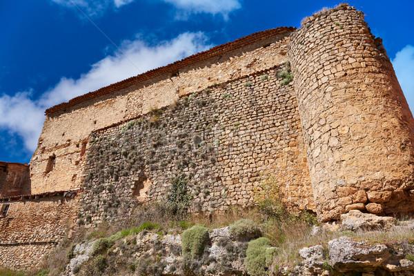 スペイン 歴史的 メーソンリー 壁 自然 青 ストックフォト © lunamarina