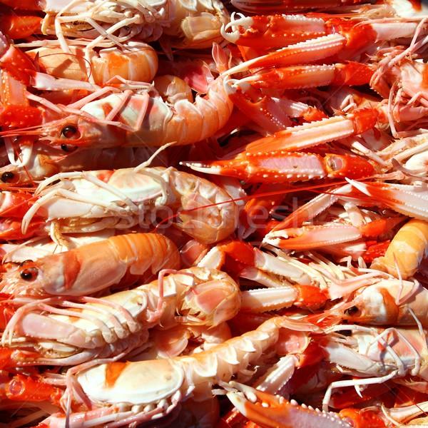 Crayfish Nephrops Norvegicus seafood market Stock photo © lunamarina