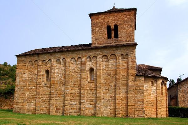 San Caprasio Church santa Cruz Seros Huesca Stock photo © lunamarina