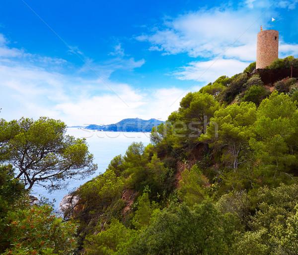 Sant Joan castle in Lloret de Mar at Costa Brava Stock photo © lunamarina