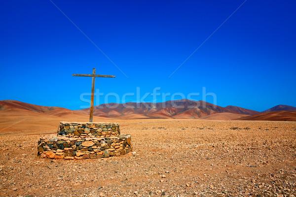 Atravessar canárias Espanha estrada montanha ilha Foto stock © lunamarina