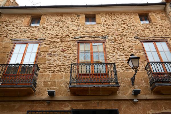 Denia street Loreto facades in Alicante spain Stock photo © lunamarina