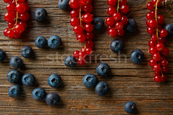Berries mix blueberries and red currants Stock photo © lunamarina