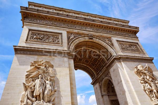 Arc de Triomphe in Paris Arch of Triumph Stock photo © lunamarina